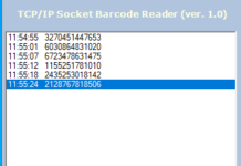 TCP IP Socket barcode Reader